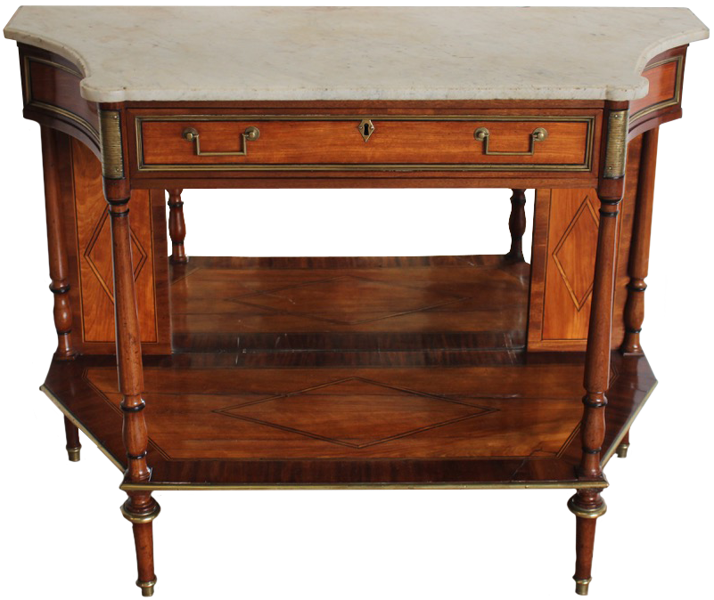 Late 18th Cent French Directoire Period Satinwood Console Table