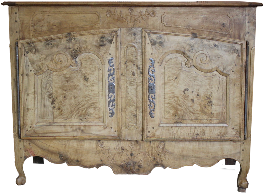 Matched Pair of 18th Century French  Buffets in Burr Ash