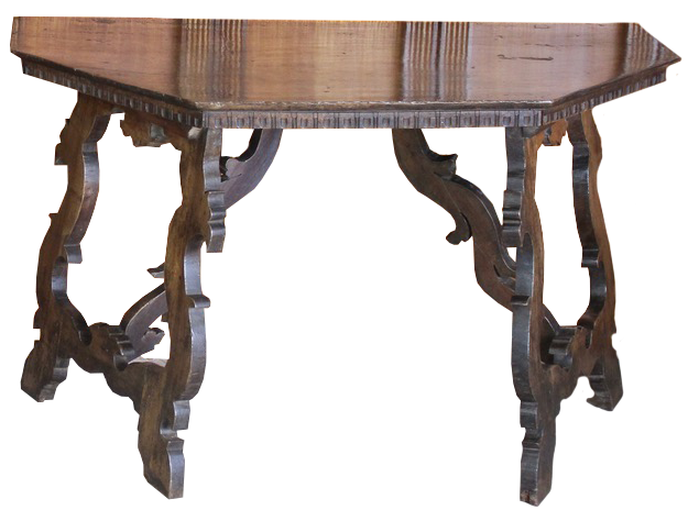 Pair of 18th Cent Italian Walnut Console Tables